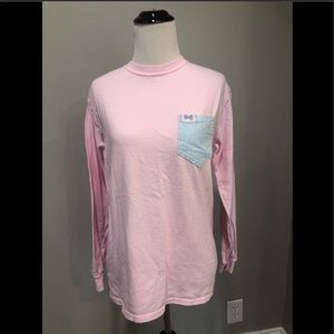 Fraternity Collection Long Sleeve Shirt in Pink